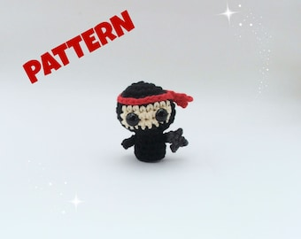 Amigurumi Ninja Pattern, Crochet Doll Pattern, Amigurumi Doll Pattern, Crochet Amigurumi Pattern, Amigurmi Patterns, Crochet Patterns