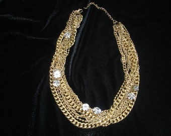 "Vintage Necklace Multi Chain 20"" Long"