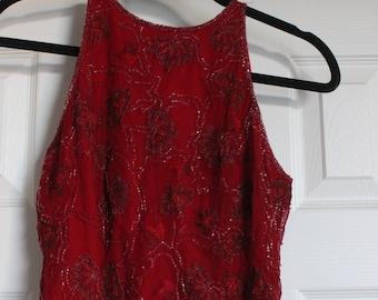 fully embellished VINTAGE blouse [size PS]