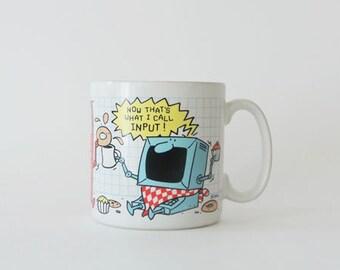 Vintage Totally 80's Wacky Computer Age Mug