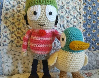 Sarah and Duck Amigurumi Dolls