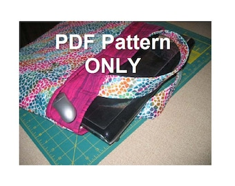 Sleeve/tote bag for 17-inch laptop/notebook (PDF pattern)