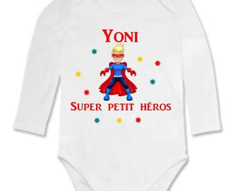 Hero personalized with name Bodysuit