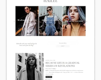 NEW! HAILEE | Responsive Minimalist Premade Blogger Template