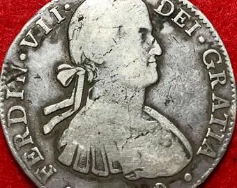 8 reales 1809 de Carlos IV-Mexico-Silver