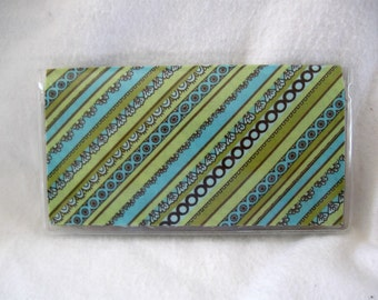 Stripes Checkbook Holder Checkbook Cover for Duplicate Checks Cash Envelope