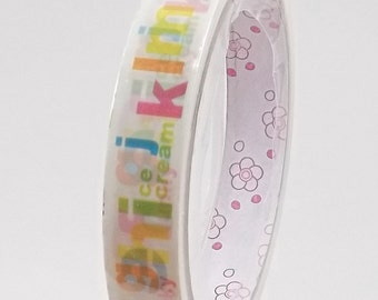 Kawaii Deco Tape Colorful Alphabet 15m