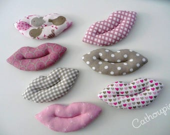"""Set of 7 kisses """"Marion"""", for a bag to love, kisses"""