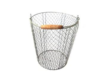 Vintage Basket, Metal Basket, Garbage Bin, Wire Basket, Industrial, Metal Wire Basket, Fruit Basket, Storage Basket, Basket Vintage, Bin