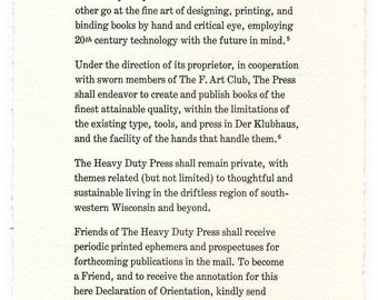 The Declaration of Orientation