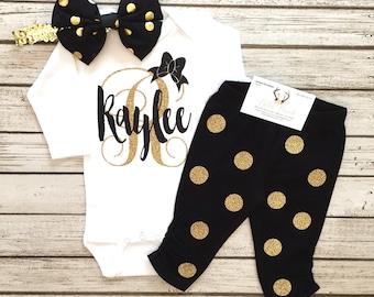 Baby Girl Clothes, Baby Girl Monogram Bodysuits, Personalized bodysuits, Monogram Bodysuit Pants Set, Monogram Shirts, Monograms, Name Shirt
