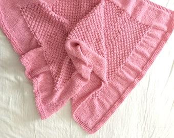 Raspberry blanket - Bobble Blanket - Popcorn Blanket - nupp blanket PDF knitting pattern