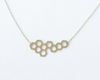 Honeycomb Necklace | Medium | ATL-N-142