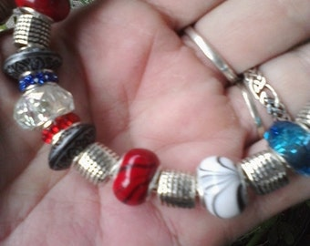 Pagan Wiccan, Earth, Air, Fire, Water, Euro style bracelet