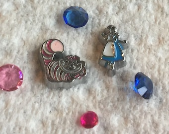 Alice in Wonderland Floating Charms
