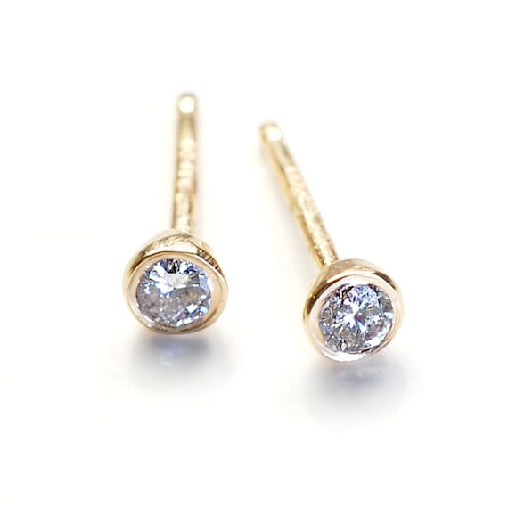 yellow set gold stud in inc bezel products earrings diamond miracle a j