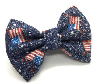 Sparkle American Flag Bow