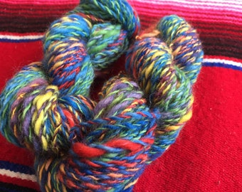 Handspun Yarn - Blue Rainbow