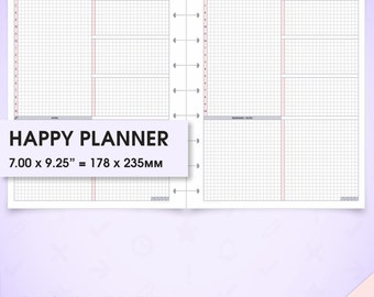 Daily happy planner inserts undated printable do1p (daily planner inserts, daily inserts, daily planner, daily schedule, day planner)