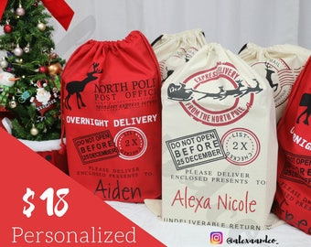 Personalized Santa Sack | Christmas Gift Sack
