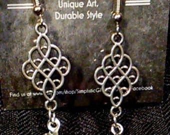 Silver Grape Bunch Charm Earrings