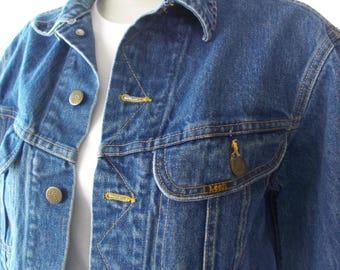 vintage classic lee denim jacket lee rider jean jacket vintage lee denim- 80s