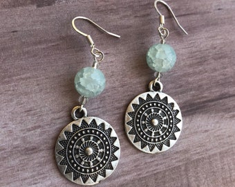 Mandala Pendant Earrings