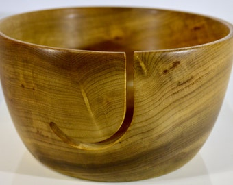 977 Yarn bowl, made from figured Myrtlewood