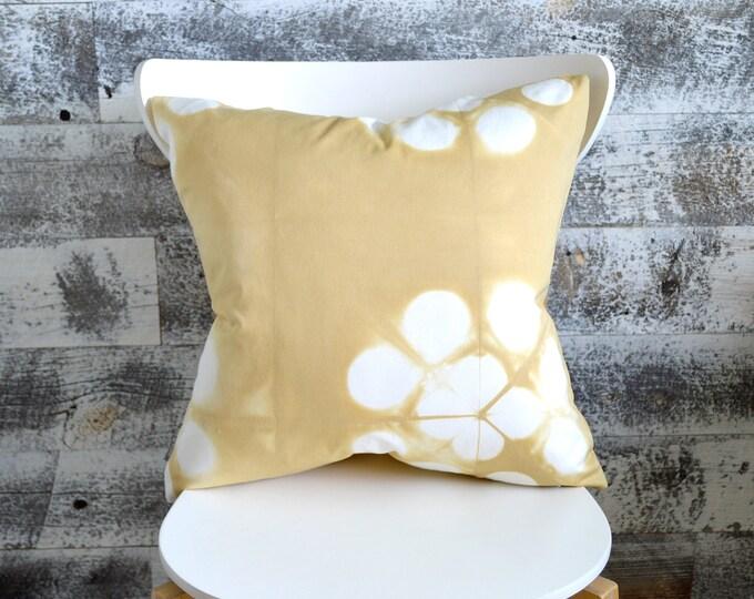 Wheat Coloured Shibori Pillow Cover 18x18 inches