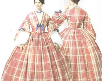 Simplicity 3855 Misses' Civil War Costume Pattern, 8-14