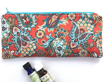 Essential Oil Storage Pouch - Essential Oil Case - Essential Oil Storage Case with Waterproof Lining - Storage Zipper Pouch