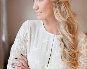 Odette | Bridal Hair Pins, Silk Flower Hair Pins, Bridal Flower Pins, Set of Bridal Hair Pins, Romantic Hair Pins, Bridesmaid Hair Pins