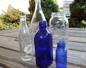 Vintage Glass Bottle Collection, Cobalt Blue Phillips Medicine, Bromo Seltzer, Juice Bottles, Crass Soda Bottle, Baltimore Maryland Bottles