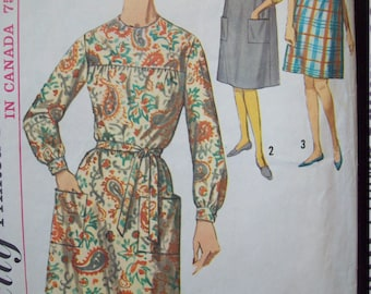 Simplicity Pattern 5213 One Piece Yoked Dress or Jumper Size 14-16