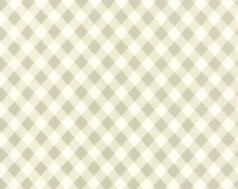 1/2 yard VINTAGE PICNIC Quilt BACK 108 wide  by Bonnie and Camille for Moda Fabrics Check gray