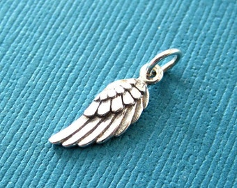 Sterling Silver Angel Wing Charm - Right Side