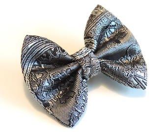 Silver Bow brooch