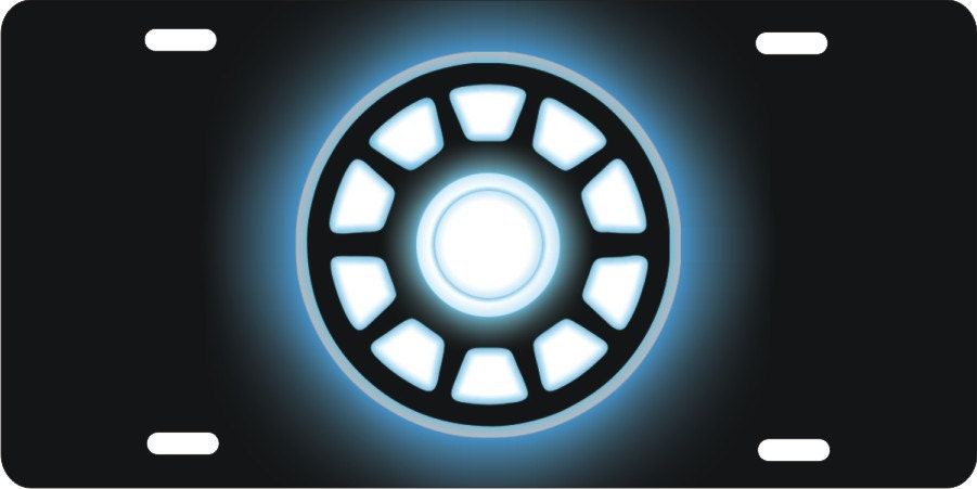 Arc Reactor Personalized Novelty License Plate Custom Car Tag Iron Man  Chest Piece Decorative Front Plate