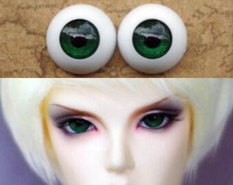 sale stock matalic dark grass green acrylic BJD doll eyes 14mm