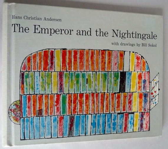 The Emperor & the Nightingale Hans Christian Anderson Fairy Tale Illustrated by Bill Sokol 1959 1st Edition Hard Cover HC Children Juvenile