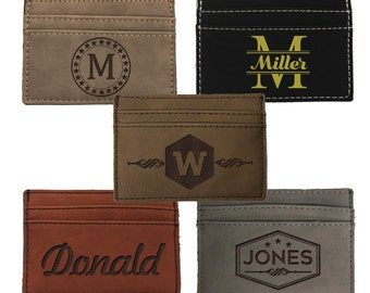 Personalized Wallet for Men, Custom Money Clip Wallet, Leather Money Clip Wallet, Personalized for Him, Gifts for Him, Mens Wallet, Dad Gift