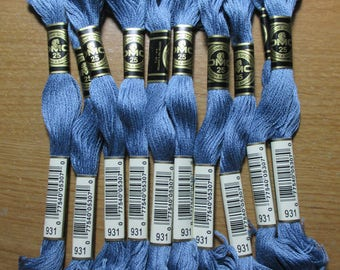 Lot of 5 Skeins DMC Floss # 931