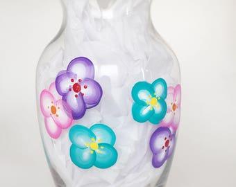 Floral Vase//Spring Vase//Mothers Day Vase