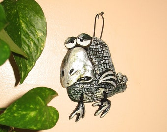 Handmade Crow - Baba Yaga's Pet -  Purse Charm Wall Decoration