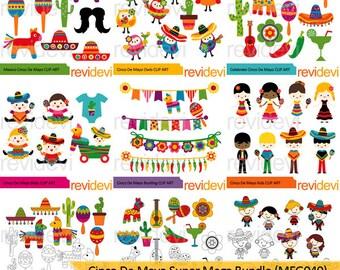 Mexico clipart - Mexican clipart - Cinco de mayo super big mega bundle clipart - digital images, commercial use cute clipart