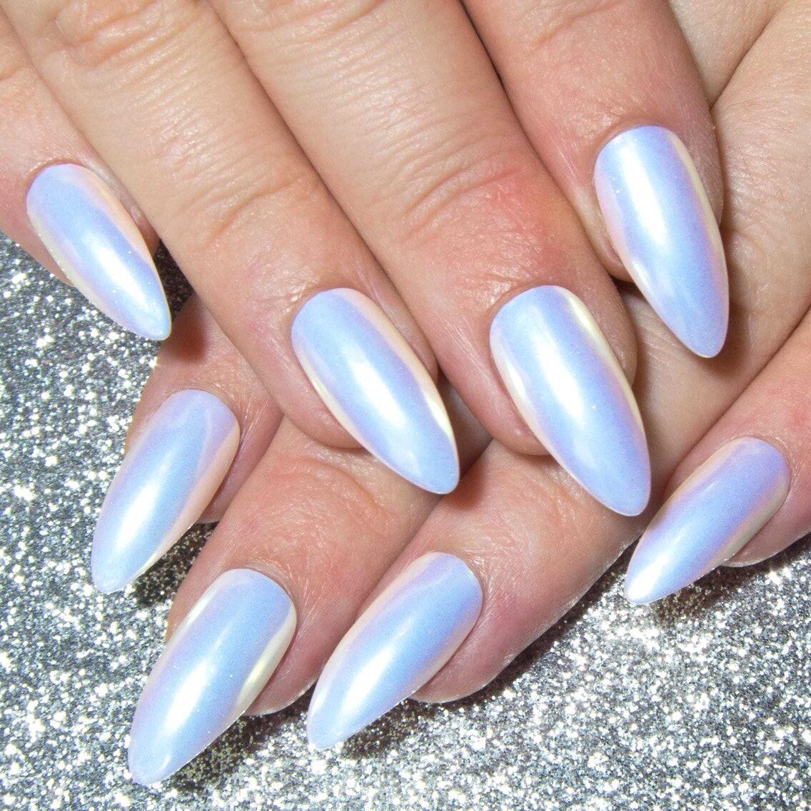 Unicorn Fake Nails - Press On Nails Pastel - Almond False Nails ...