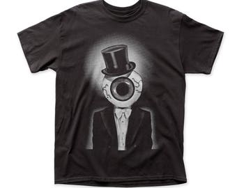 The Residents The Eyeball Men's Traditional 18/1 Cotton Tee (RES04) Black