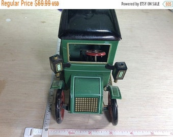 10%OFF3DAYSALE Vintage Lever Action Green Tin Toy Car Trade Mark Modern Toys Working Condition Used