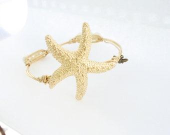 Starfish Bangle/ Summer Bangle/ Wire Bangle