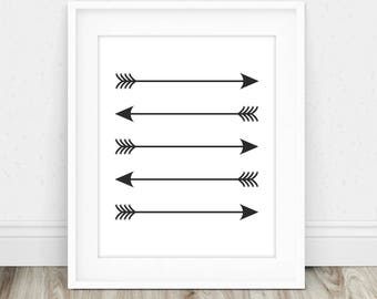 Black Arrow Art - Boho Arrow Decor, Nursery Arrow Decor, Arrow Wall Hanging, Arrow Wall Decor, Tribal Wall Art, Arrow Nursery Decor